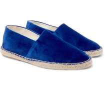 Cotton-Velvet Espadrilles