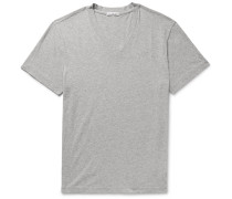 Mélange Combed Cotton-Jersey T-Shirt