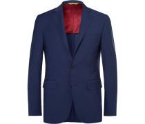 Navy Kei Slim-fit Wool Suit Jacket