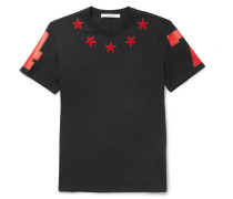 Cuban-fit Star-appliqué Cotton-jersey T-shirt