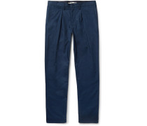 Sten Pleated Cotton Trousers