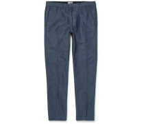 Connor Linen And Cotton-blend Trousers