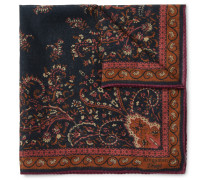 + Drake's Victorian Garden Printed Wool And Silk-blend Pocket Square