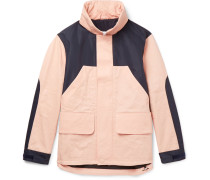 Panelled Shell And Cotton-twill Hooded Jacket