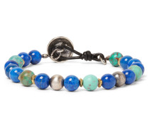 Turquoise, Lapis And Sterling Silver Bracelet