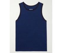 Indigo-Dyed Cotton-Jersey Tank Top