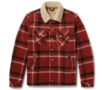Lenny Faux Shearling-lined Checked Wool-blend Jacket