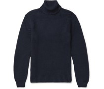 Slim-Fit Cable-Knit Wool-Blend Rollneck Sweater
