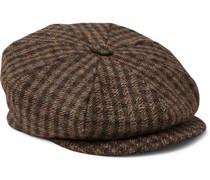 + Lock & Co Hatters Checked Wool-Tweed Flat Cap