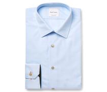 Blue Slim-fit Cotton-poplin Shirt