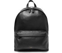 Grained-leather Backpack