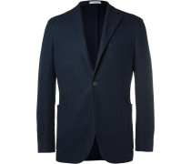 Blue K-jacket Cotton-hopsack Blazer