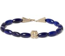 Lapis, Gold And Diamond Bracelet