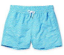 Ondas Slim-fit Striped Mid-length Swim Shorts