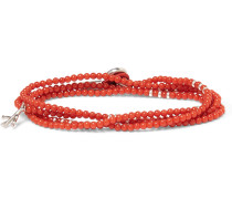 Saracino Coral Silver Wrap Bracelet