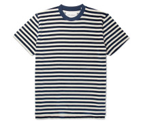 Striped Cotton-blend Velour T-shirt