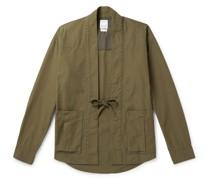 Lhamo Cotton-Blend Canvas Shirt