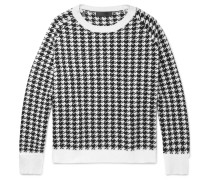 Oversized Houndstooth Wool Sweater