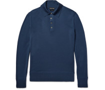Knitted Wool Polo Shirt