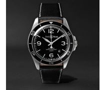 Br V2-92 Automatic 41mm Stainless Steel And Leather Watch