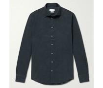 Slim-Fit Cotton-Flannel Shirt