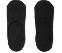 Two-pack Cotton-blend No-show Socks