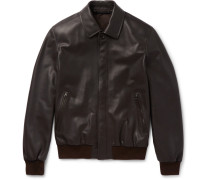 Leather Blouson Jacket