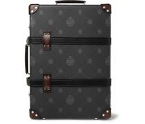 + Globe-Trotter Venezia Leather-Trimmed Logo-Print Virée Canvas Suitcase