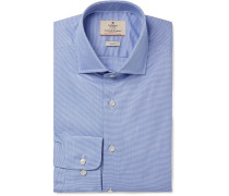 Blue Mayfair Slim-fit Puppytooth Cotton-poplin Shirt