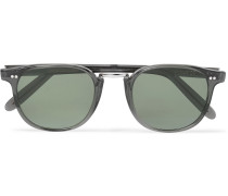 + Cutler And Gross D-frame Acetate And Silver-tone Sunglasses
