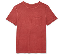 Slim-fit Garment-dyed Cotton-jersey T-shirt
