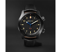 U-2/51-JET Automatic 43mm Stainless Steel and Leather Watch