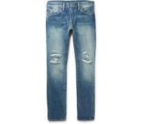 511 Slim-fit Distressed Selvedge Denim Jeans
