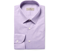 Lilac Slim-fit End-on-end Cotton Shirt