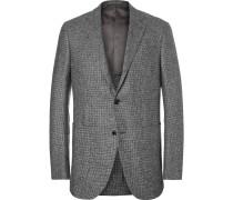 Slim-fit Puppytooth Trofeo Wool, Silk, Linen And Cashmere-blend Blazer