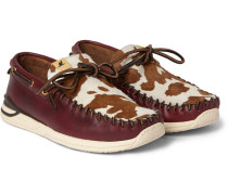 Yucca Calf Hair And Leather Deck Shoes
