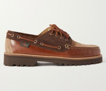 Weejuns '90 Boater Mix Panelled Leather and Suede Boat Shoes