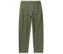Assembly Cropped Crinkled-Cotton Trousers