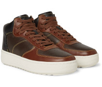 Patchwork C210 Leather High-top Sneakers