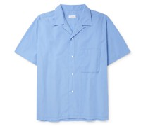 Convertible-Collar Cotton-Blend Shirt