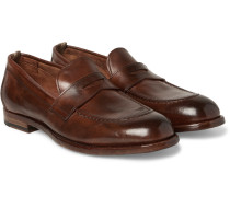 Ivy Polished-leather Penny Loafers