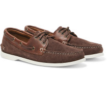 Downeast Suede and Leather Boat Shoes