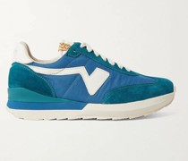 FKT Runner Suede- and Leather-Trimmed Nylon-Blend Sneakers