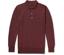Mélange Merino Wool Polo Shirt