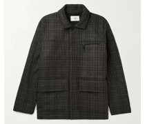 Alber Checked Wool-Blend Jacket