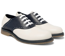 Two-tone Leather Derby Shoes