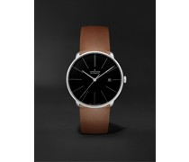 Meister Fein Automatic 39.5mm Stainless Steel and Leather Watch, Ref. No. 027/4154.00
