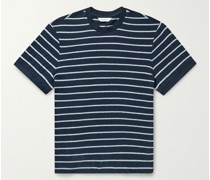 Striped Cotton-Terry T-Shirt