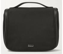Webbing-Trimmed Canvas Wash Bag