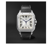 Santos Automatic 35.6mm Interchangeable Stainless Steel and Leather Watch, Ref. No. WSSA0010